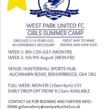 Girls Summer Camp August 2019